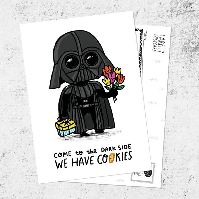 "Postcard ""Come to the dark side"""