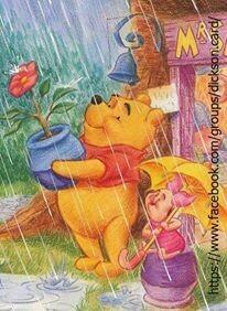 NEW. Disney, Winnie the Pooh in the rain