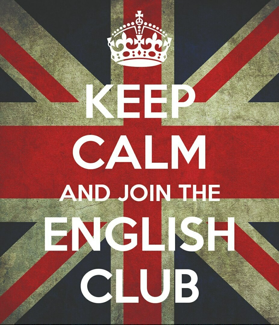Keep Calm and Join The English Club