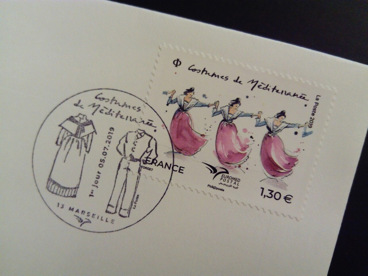First day cover. Costumes de Méditerranée