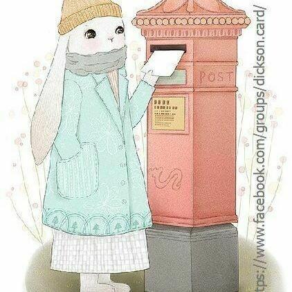 The rabbit sends a letter 📬. Кролик отправляет письмо 📬