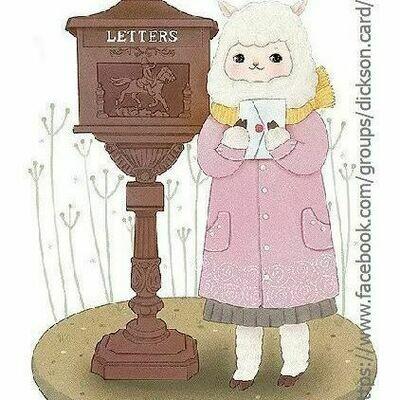 NEW. Sheep sends a letter. Овечка отправляет письмо .