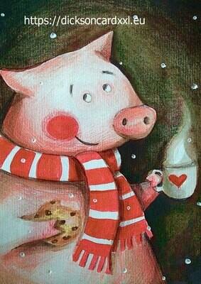 Pig with a cookie 🍪 Хрюнь с печенькой