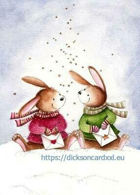 Rabbits with letters Кролики с письмами