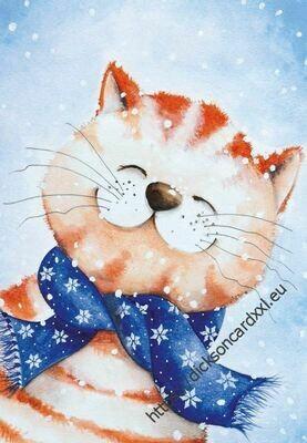 Cat in a scarf Котик в шарфе