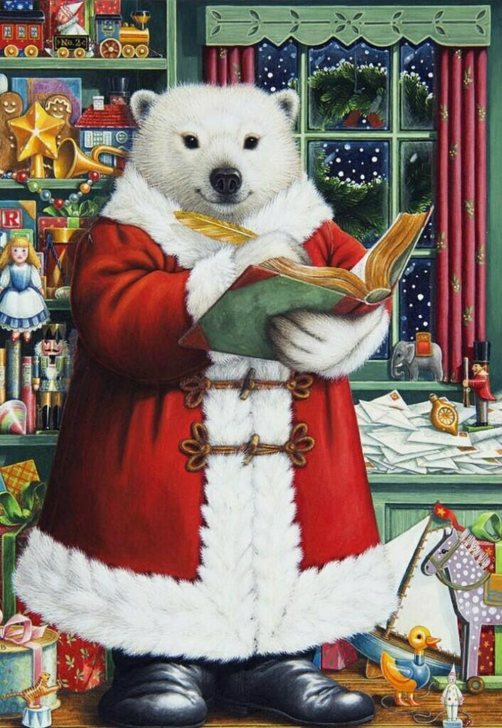 NEW. Polar bear in a red coat