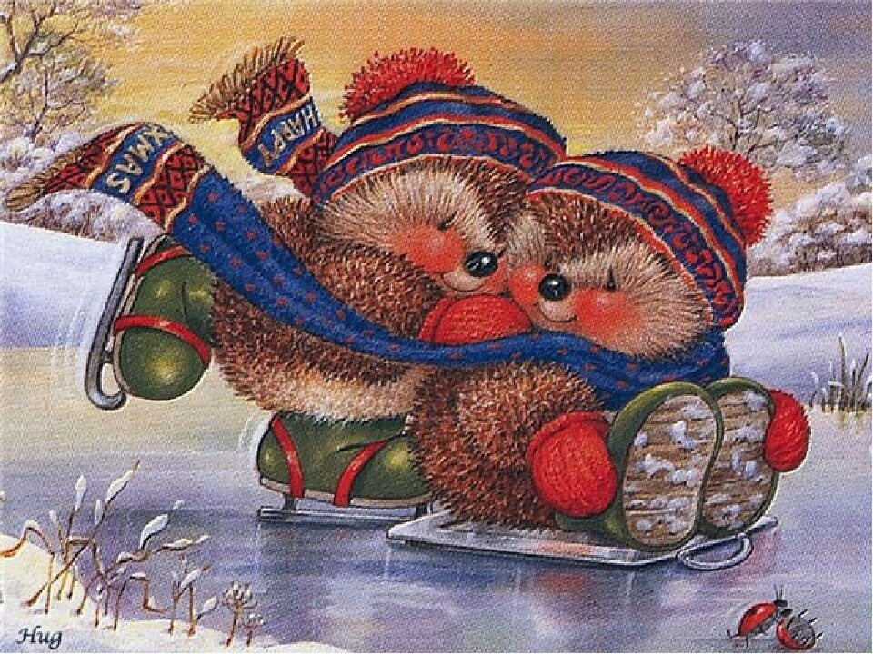NEW. Hedgehogs on skates