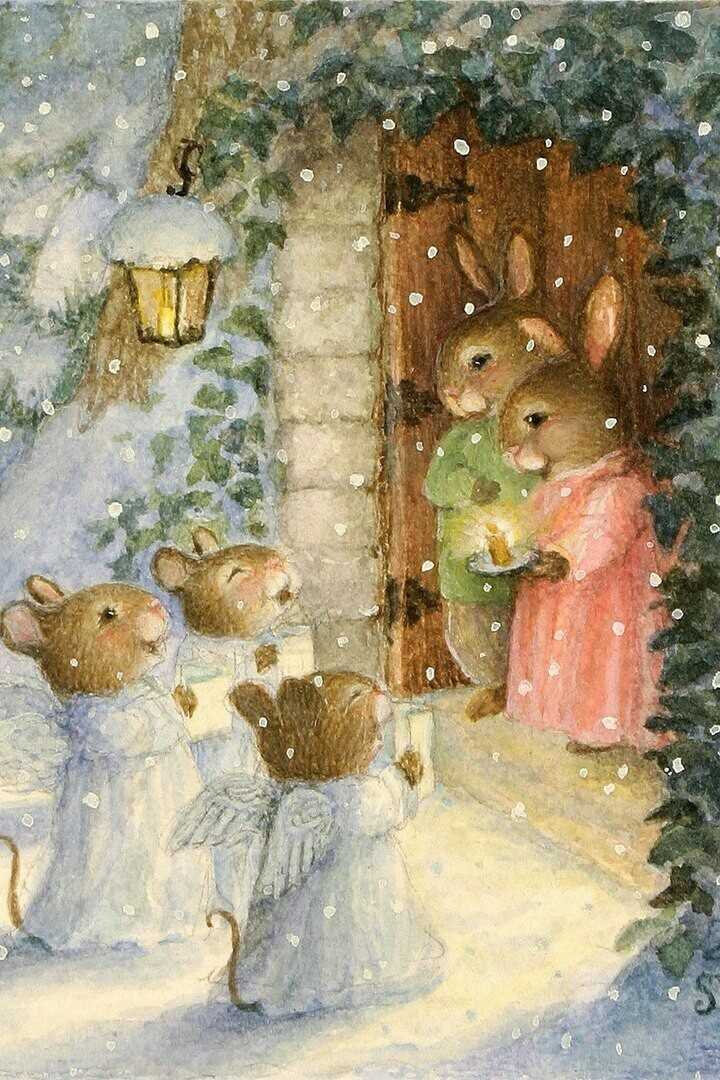 Rabbits, Christmas carols Susan Wheeler