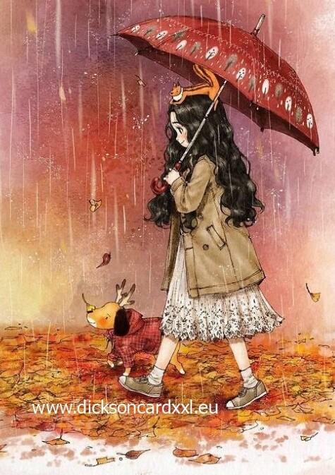 Aeppol. Girl under the umbrella. Девочка под зонтом