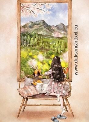 Aeppol, The girl looks out the window, Девочка смотрит в окно