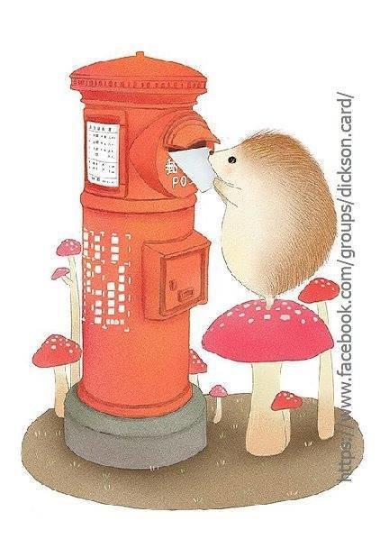 Hedgehog sends a letter.