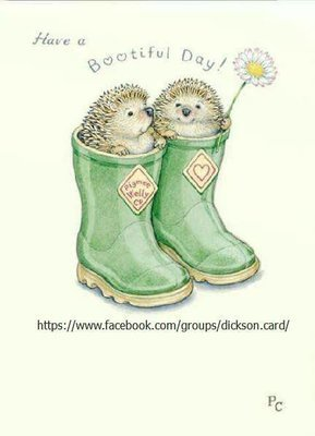 Hedgehogs in boots.