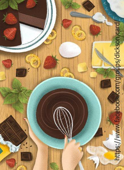 Chocolate cake🍫 from © Екатерины Колесниковой.