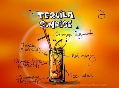 Cocktail Tequila Sunrise.