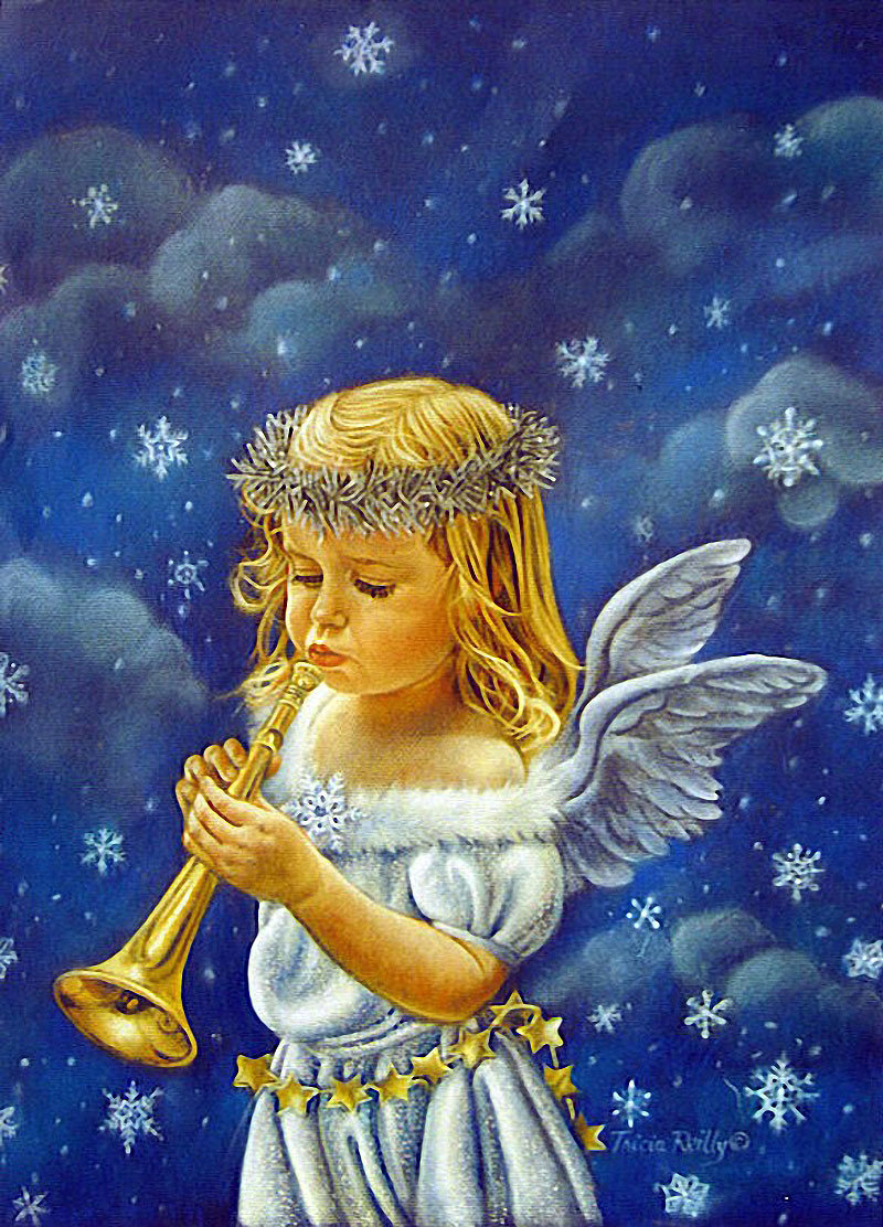 Angel with a pipe from © Tricia Reilly-Matthews.