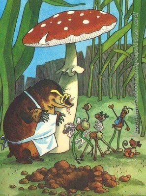 Mole and fly agaric