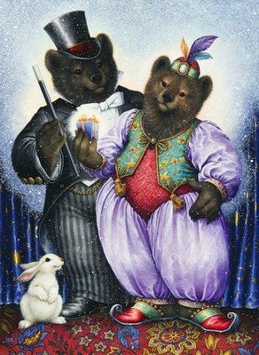 Two bears in the circus from © Lynn Bywaters