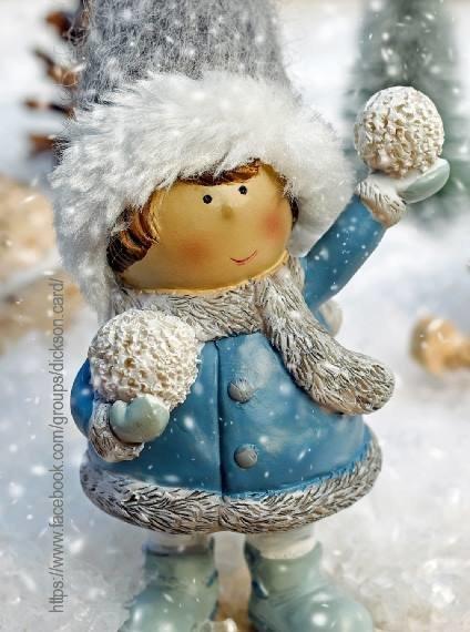 Christmas figure - a girl