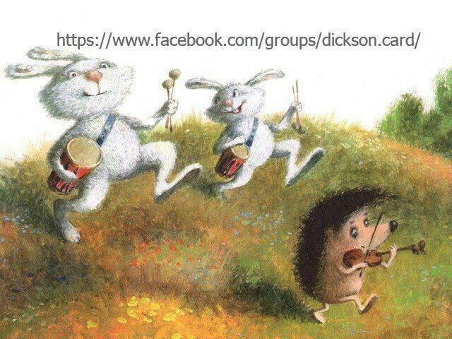 Hedgehog and hares musicians