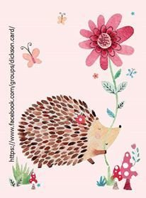 Hedgehog holding a flower