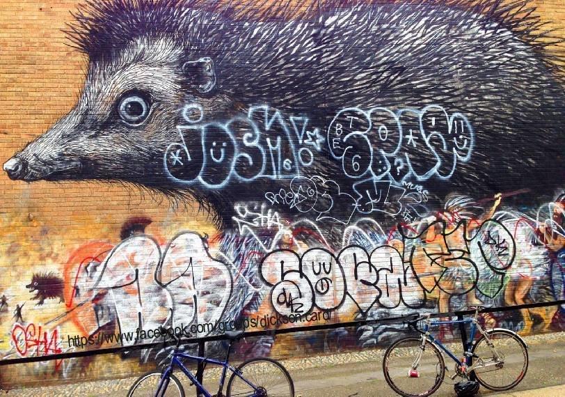 Hedgehog graffiti