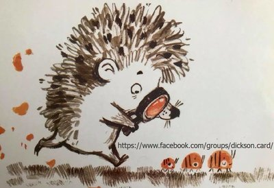 Hedgehog with magnifying glass