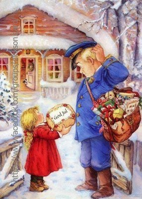 Girl and Postman from  © Lisi Martin