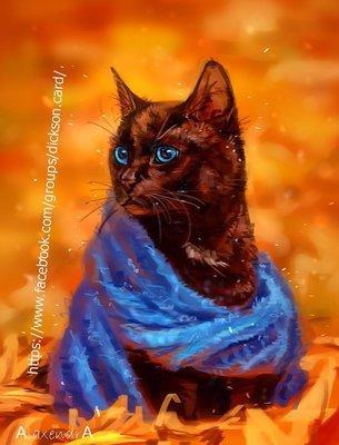 Аutumn cat by