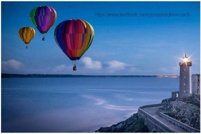 Lighthouse and balloons
