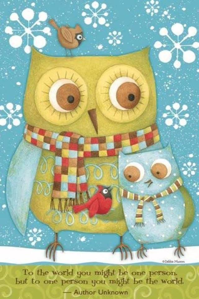 Owls with text