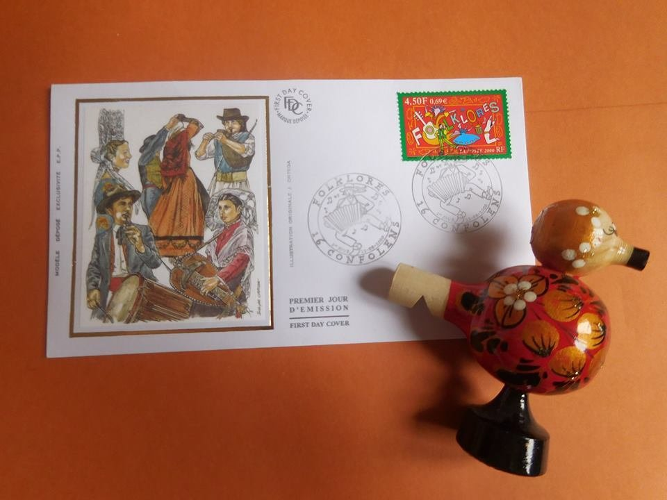 First day cover. Folklores. КПД Франция