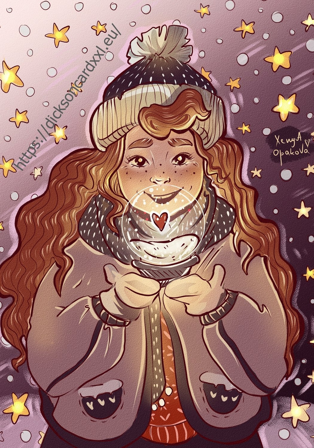 Girl with a glass ball © Xenia Opakova
