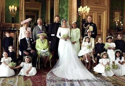Family photo from Prince Harry's wedding + Megan Markle