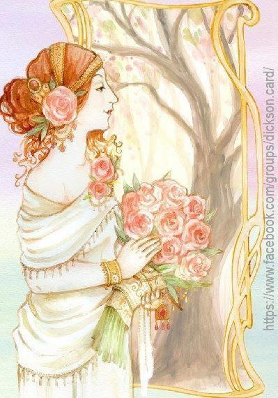 Vintage Lady Romantic watercolor