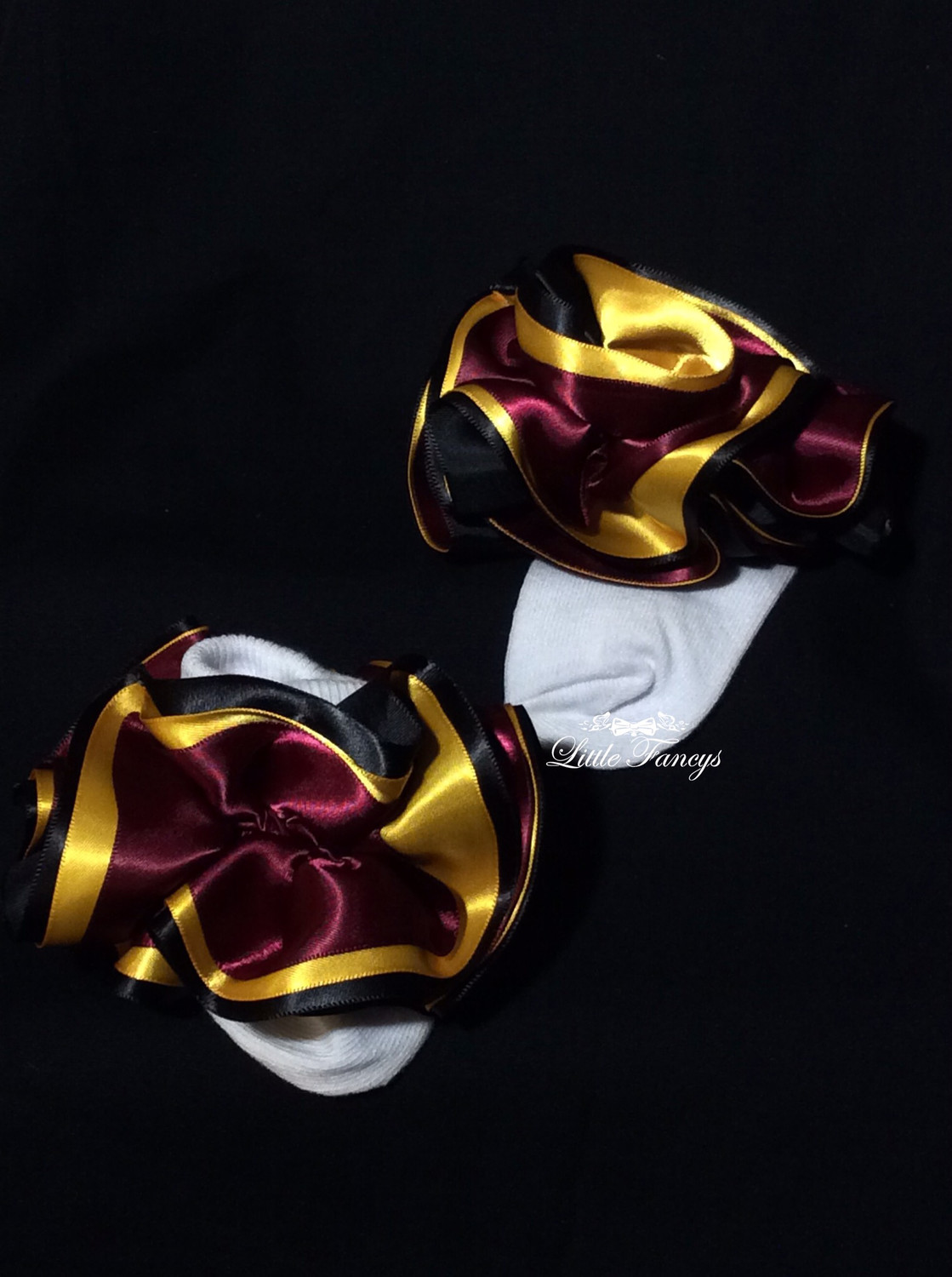 Maroon And Gold Infant Socks