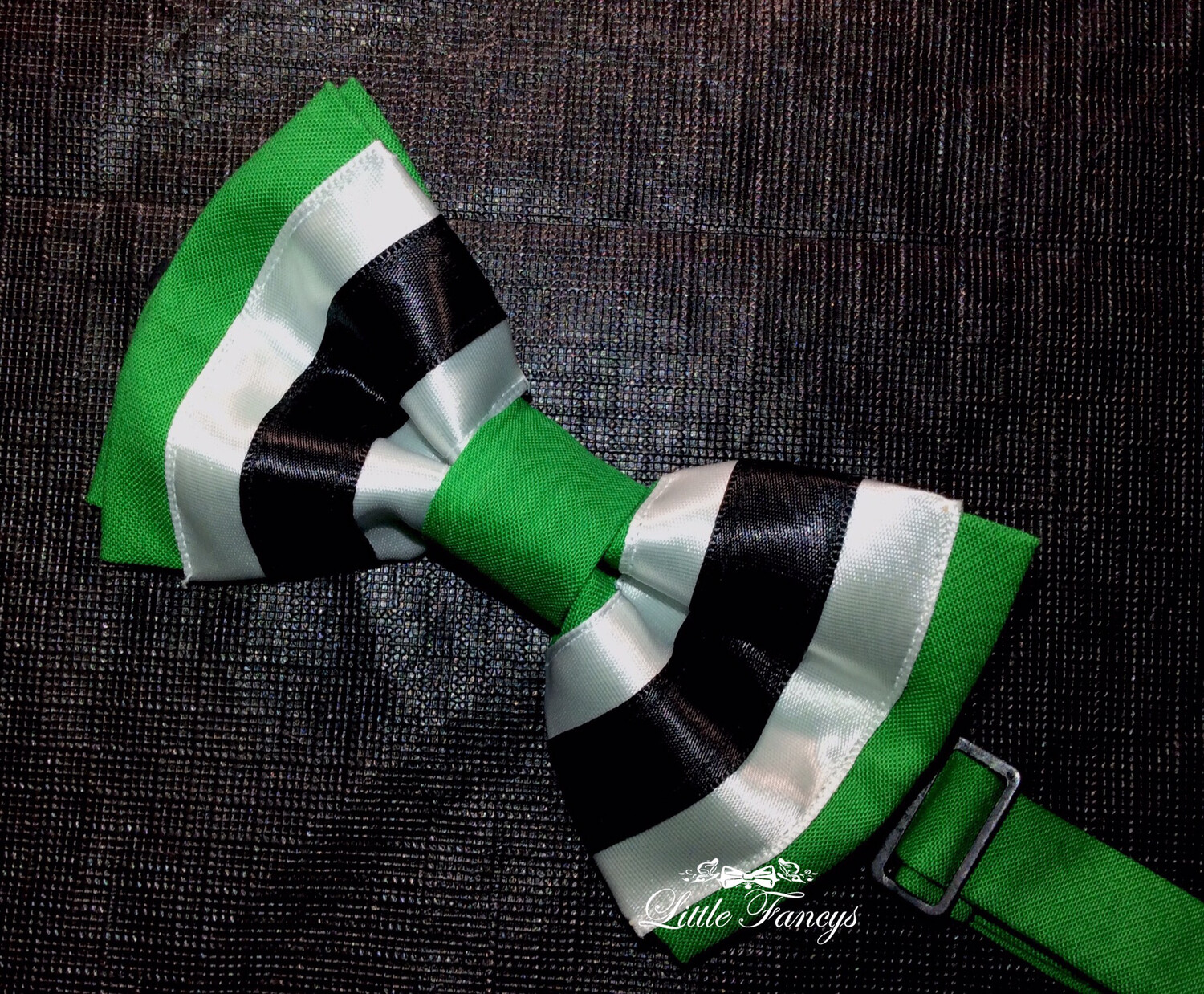 Green Black And White Unisex Bow Tie