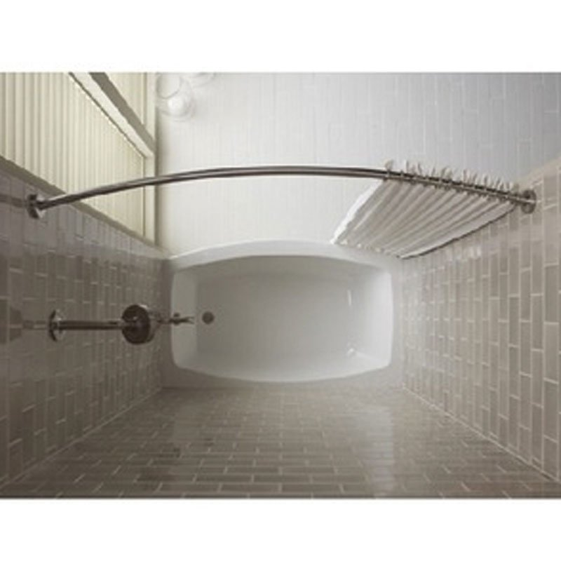 Bowed Shower Curtain Rod.Curved Shower Curtain Rod
