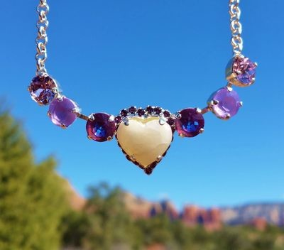 Sedona Sophia Hearts of Mother Earth Gaia Violet  & Pink Ray Healer Priestess $344.00/555.000 {Light Workers sale}