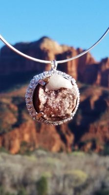 Sedona CATHEDRAL LightBearer New Earth Soul White Light & Star druzy Divine Power