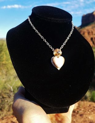 Gold Sedona Sacred Heart White Light inner Earth crystal of Mother Earth Gaia/$233.00/$333.00Lightworkers Sale