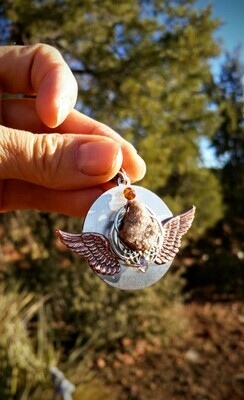Sedona Crystal Elohim Guardians Language of Light Crystal Portal Pendant