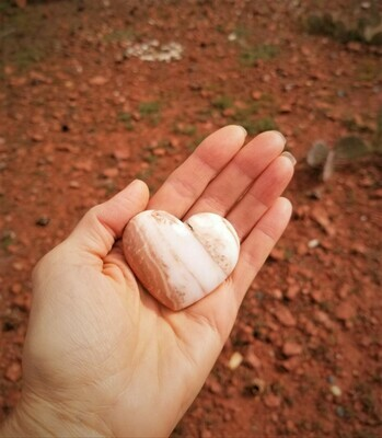 Sedona White Light Crystal Holding Heart/Red Rock Ley lines of Mother Earth's LOVE/Language of light, Grid Worker & Healer