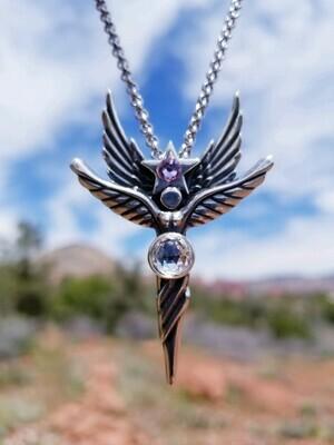 Sedona Language of Light Angel Pink Star Sterling Silver/Star Guide retreat sale$199/$244.00