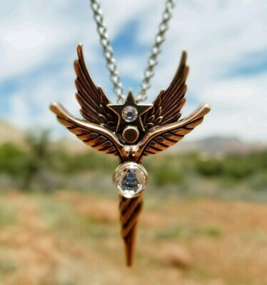 Sedona Angel Star Guide & Protection in Red Sedona Copper /Retreat Angel sale$199/$244.00