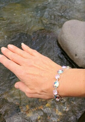 Gorgeous Pleiadian of Peace Priestess/Devic Crystal LOVE Bracelet $144/$188 Retreat Sale