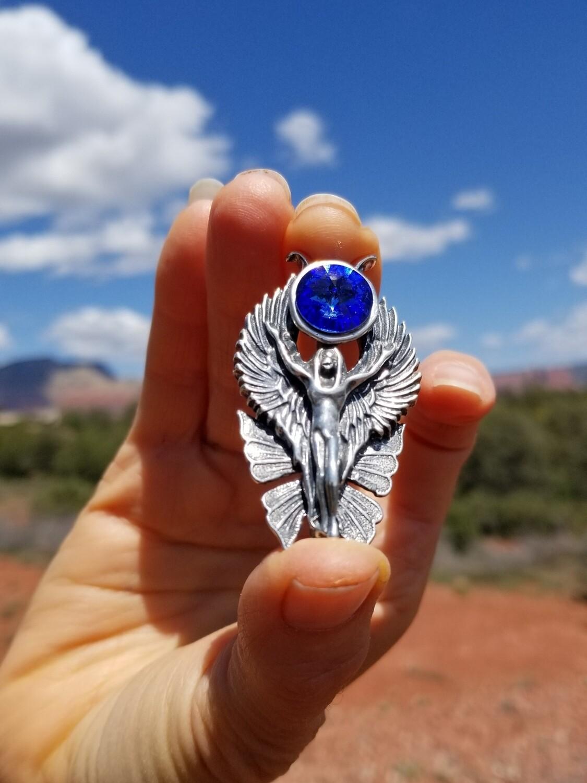 WA HE AH Sterling Silver/Goddess Fairy Angel Deva/Retreat Fairy sale$199/$313