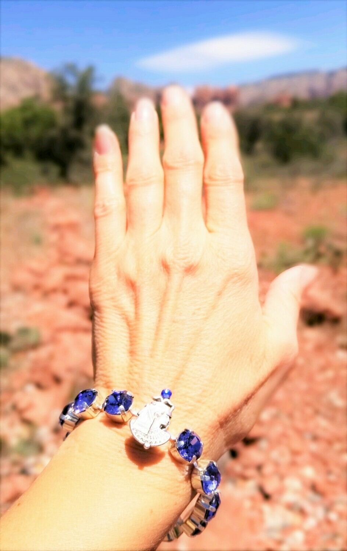 Beautiful Goddess Isis Violet  Light of Transformation/Devic Crystal LOVE Technology Bracelet/$144.00/$188.00 Goddess retreat Sale