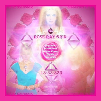 Rose Ray Grid Charger Of Supreme Love Protection instant download