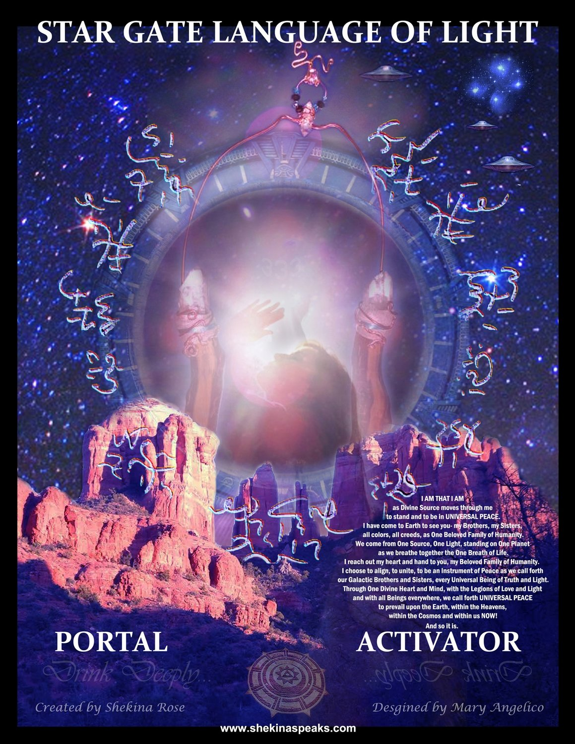 Sedona STAR GATE LANGUAGE OF LIGHT  Activator/Pleiadain Peace Portal Download