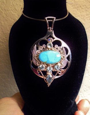 Isis Priestess Sleeping Beauty Turquoise & Blue Topaz